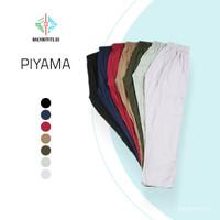 Daily Outfits Celana Panjang Casual Piyama Bawahan Motif Rayon Unisex