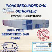 Kasur Busa Inoac Rebonded Orthopedic D40 90 Tebal 25 Garansi 20Tahun