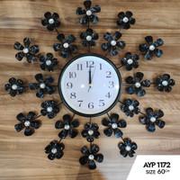 Jam Dinding Art Crystal AYP-1172 Size Diameter 60cm - Made In turki