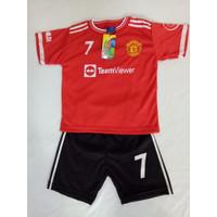 Baju Bola Anak MU Merah Terbaru 2021/2022 / Setelan Bola Anak