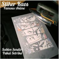 stiker baju setrika famous anime