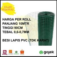 Kawat loket PVC /kawat RAM PVC ayakan kandang / kawat 1/2 x 10 Meter