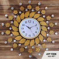 Jam Dinding Art Crystal AYP-1120 Size Diameter 60cm - Made In turki