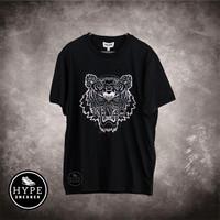 Kaos KENZO Tiger Silver Black Tshirt 100% ORIGINAL NEW SEASON 2021