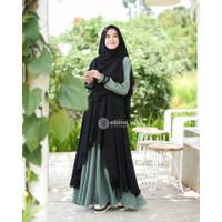 Baju Gamis Dewasa Muslim Modern Kekinian HAZQIA SYAR'I SET PLUS HIJAB