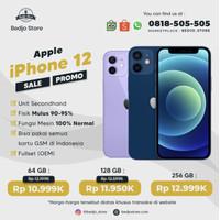 iPhone 12 64GB 128GB 256GB Second Original - Black, 64 gb