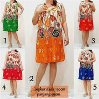 Daster Jumbo fit XXL Daster Kaos Busui Bumil Dress Batik Big Size DK2