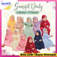 Baju Muslim Gamis Bayi Perempuan 6 12 Bulan & Anak Perempuan 1 2 Tahun