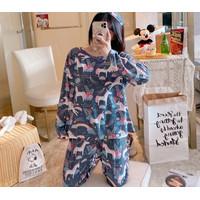 Piyama Import Korea - Baju Tidur Wanita Dewasa - PP Import LD 103 - 126-UNICORN