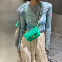 Tas Slempang wanita Import Strap Rantai Musim Panas Fashion Messenger - Hitam