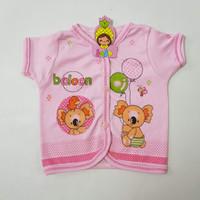 Baju Bayi Katun Atasan Lengan Pendek - Balloon - Pink, XS