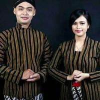 BAJU PREWEDING LURIK ADAT JAWA SURJAN LURIK COUPLE - Couple