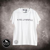 Kaos Karl Lagerfeld Graffiti Logo White Tshirt 100% ORIGINAL - XS