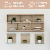 Furniture Rak Pajang Kaca ANNE GLASS SHELF
