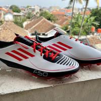 Sepatu Bola Adidas F50 Adizero White Red Black