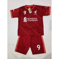 Baju Bola Anak Liverpool Maroon Terbaru 2021/2022 / Setelan Bola Anak