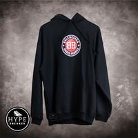 Jaket Balenciaga Circle Logo Navy Hoodie 100% ORIGINAL - L