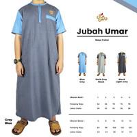Baju Koko Jubah Gamis Muslim Anak Laki Laki Usia 1 Sampai 5 tahun - Grey-Blue, 3