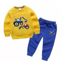 SETELAN SWEATER ANAK LAKI LAKI SETELAN ANAK PEREMPUAN //Baju anak anak - Kuning, S 1thn