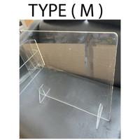 Akrilik Pembatas/ Penghalang Meja TYPE M custom - 3MM, 70x60cm