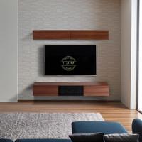bufet tv rak buku meja tv minimalis gantung kayu jati solid murah
