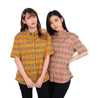 Monellina 50119 Baju Kemeja Atasan XXL Jumbo Lengan Pendek Wanita