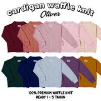 CARDIGAN ANAK / jaket sweater anak waffle knit 1-5 tahun cewe cowo