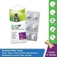 Drontal Plus Tasty DOG DEWORMER (1tab.) - OBAT CACING ANJING