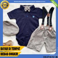 Setelan baju anak laki laki jumper pakaian pesta bayi cowok - BC