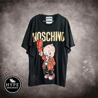 Kaos MOSCHINO Pig Bordir Black Tshirt 100% ORIGINAL - XS
