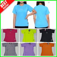 Baju Olahraga Wanita Kaos Dry Fit Lengan Pendek Atasan Senam Gym Yoga
