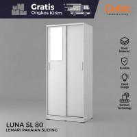 Cubic Lemari Pakaian Sliding Minimalis / Wardrobe Baju / LUNA SL 80 -