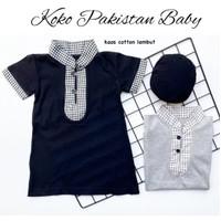 baju muslim koko gamis jubah panjang anak bayi cowok lebaran