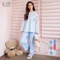 Baju Tidur Piyama Katun Jepang Greet K-171