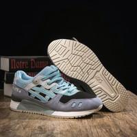 Sepatu Asics Gel lyte III Black Blue Jaminan Kualitas Store Guarantee - Biru Muda, 40