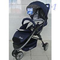 Stroller Kereta Bayi H7Skb2743 Elle 938 Smart Dark Blue Gadingroyy112