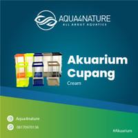 Aquarium bahari cupang cream uk 13*13*19cm