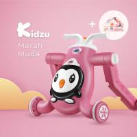 Skuter, Baby Walker, Sepeda Keseimbangan Bayi (3 In 1) - Merah Muda