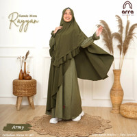Baju Pakaian Gamis Wanita Dewasa Exclusive size jumbo 2xl, 3xl, 4xl - hijau Army, XXL