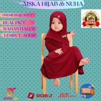 Baju gamis anak perempuan Gamiset daily Nuha Maroon XS 6-11 bulan