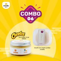 Combo 6 - Mix Mochi Ice Cream+Ice Cream - Jumbo Nutella + Cheetos