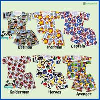 Baju Setelan Stelan Kaos Anak Laki Laki Cowok Usia 1 2 3 4 5 6 Tahun