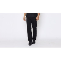 Celana Kantor Pria Celana Kerja Bahan Drill Hitam - 28