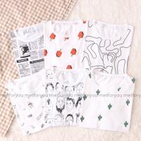 Kaos Crop Top Wanita - Full Print Series Tee