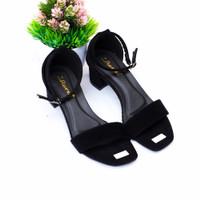 Sandal Sepatu High Heels Wanita Hak Tahu 5cm   MD 13 - Hitam, 40