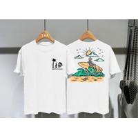 T-shirt Skull Matahari / Kaos Distro Atasan Pria Kaos Pria Kaos Wanita