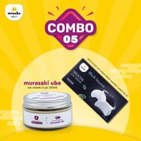 Combo 5 - Mix Mochi Ice Cream+Ice Cream - Black Sesame + Murasaki Ube