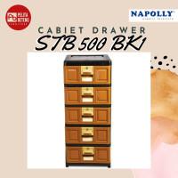Lemari Pakaian Plastik Laci Napolly STB 500 BK1 Jogja