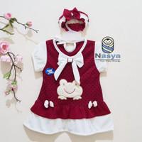 PK0106 - Kodok, Dress Baju Bayi Perempuan usia 0 - 12 bulan