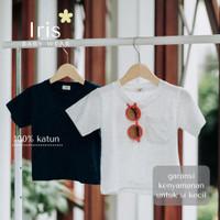 Kaos Katun Polos Anak Balita Unisex - Iris - Mars Tee Shirt